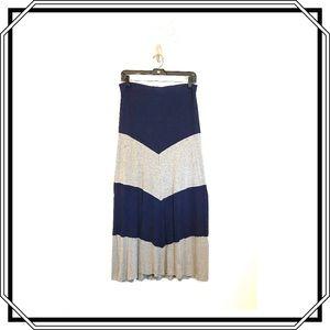 New York &Co Stretch Strip Maxi Skirt